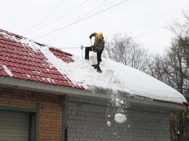 Чистке крыш от снега и сосулек